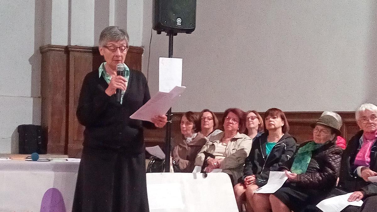 Discours de Sœur Marie Claude religieuse de la Compagnie de Marie Notre Dame.